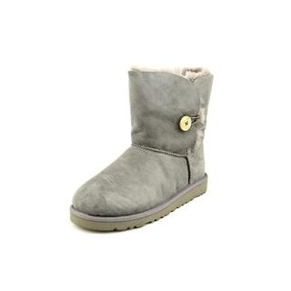 Ugg Australia Girls' Bailey Button Grey Suede Boots