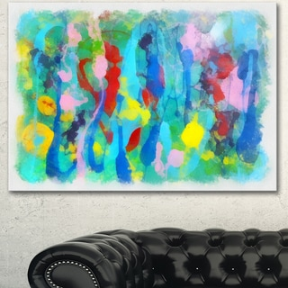Link to Designart 'Hand-drawn Multi-color Floral Pattern' Large Abstract Canvas Wall Art Similar Items in Vinyl Wall Art