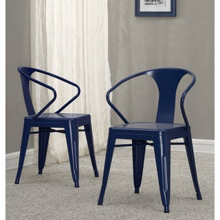 Tabouret Navy Metal Stacking Chairs (Set of 4)