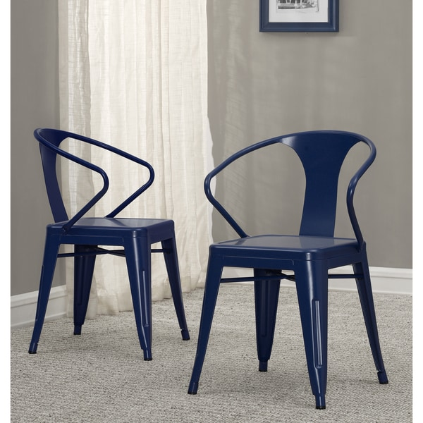 Tabouret Navy Metal Stacking Chairs Set of 4 Free Shipping
