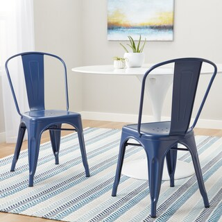 Carbon Loft Tabouret Navy Bistro Dining Chairs (Set of 2)