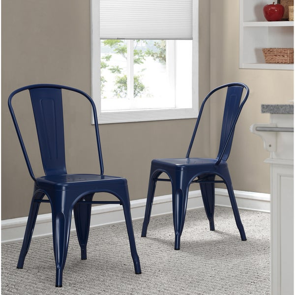 Tabouret Navy Bistro Dining Chairs (Set Of 2)