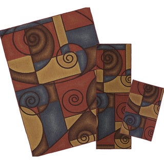 Mohawk Home Refined Geometric Multi Area Rug Set (Set Contains: 1'6 x 2'6, 1'8 x 5' and 5' x 7')