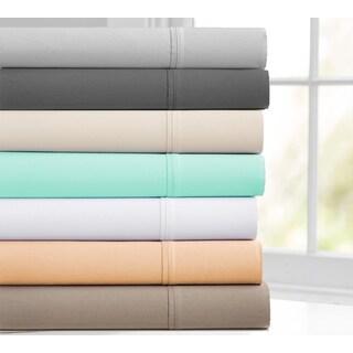 Deep-Pocket 400-Thread 4-Piece Cotton Sheet Set