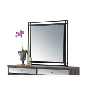 Acme Furniture Adrianna Walnut Veneer Mirror