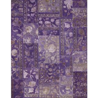 Patchwork African Violet Transitional Patchwork Pattern Rug (9'10 X 13'2)