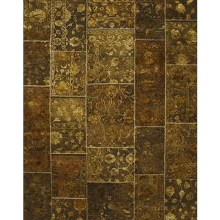 Patchwork Baroque Transitional Patchwork Pattern Rug (9'10 X 13'2)