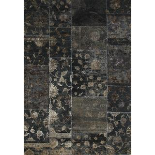 Patchwork Ebony Transitional Patchwork Pattern Rug (8' X 10')