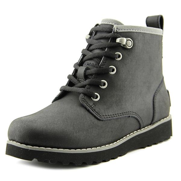 5b43aaa7108 Shop Ugg Australia Boys' 'Maple' Leather Boots - Free Shipping On ...