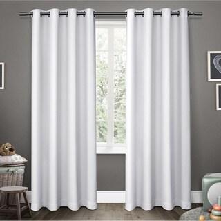 ATI Home Sateen Room Darkening Kids Grommet Top Window Curtain Panel Pair 96-inch in Sateen White (As Is Item)
