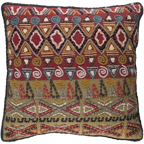 Decorative Ringwood 22-inch Feather Down or Poly Filled Throw Pillow