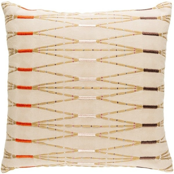 Decorative Sarreguemines 18-inch Feather Down or Poly Filled Throw Pillow