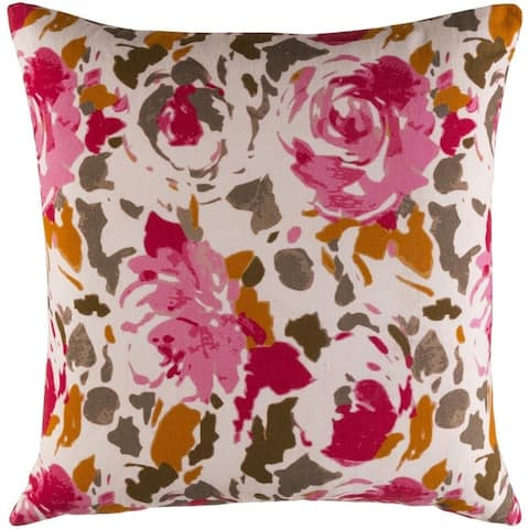 Decorative Sain 18-inch Feather Down or Poly Filled Throw Pillow