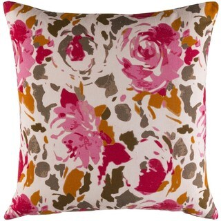 Decorative Sain 18-inch Down or Poly Filled Throw Pillow (More options available)