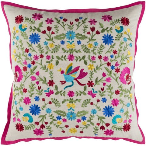 Decorative Rugby 18-inch Feather Down or Poly Filled Throw Pillow