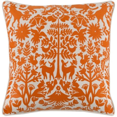 Decorative Rodez 18-inch Feather Down or Poly Filled Throw Pillow