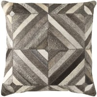 Decorative Riso 18-inch Feather Down or Poly Filled Throw Pillow