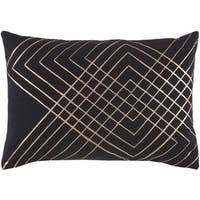 Decorative Rosa Down or Poly Filled Throw Pillow (13 x 19)