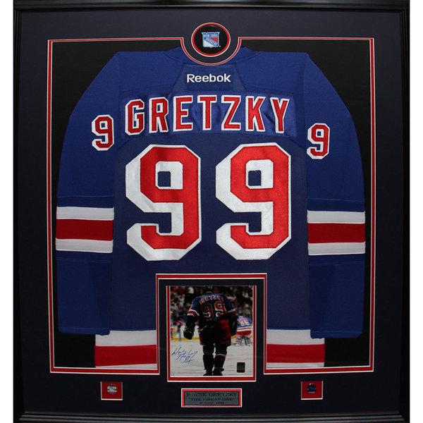 Framed Wayne Gretzky New York Rangers Jersey