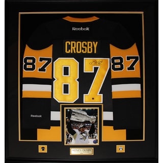 Sidney Crosby Pittsburgh Penguins Signed Vintage Jersey Frame