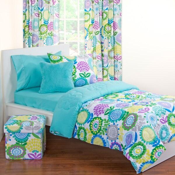 Crayola Pointillist Pansy 11-piece Bedroom in a Box Set