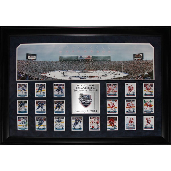 2014 Winter Classic Toronto Maple Leafs and Detroit Red Wings Panorama Card Set Frame
