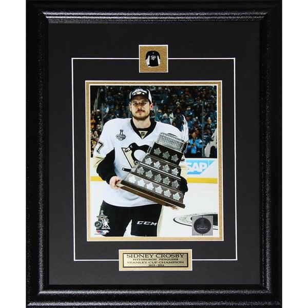 Sidney Crosby 'Pittsburgh Penguins 2016 Conn Smythe MVP' 8-inch x 10-inch Framed Artwork