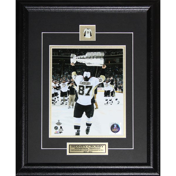 Sidney Crosby Pittsburgh Penguins 2016 Stanley Cup 8-inch x 10-inch Framed Photo Print