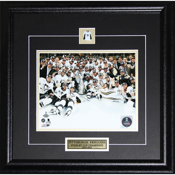 2016 Pittsburgh Penguins Stanley Cup Champions 8-inch x10-inch Frame Photo