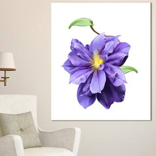 Designart 'Purple Watercolor Summer Flower' Floral Canvas Artwork Print - Purple