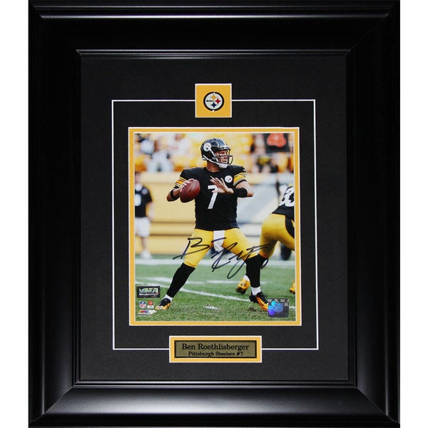 Ben Roethlisberger Pittsburgh Steelers Framed Signed 8x10 Photo