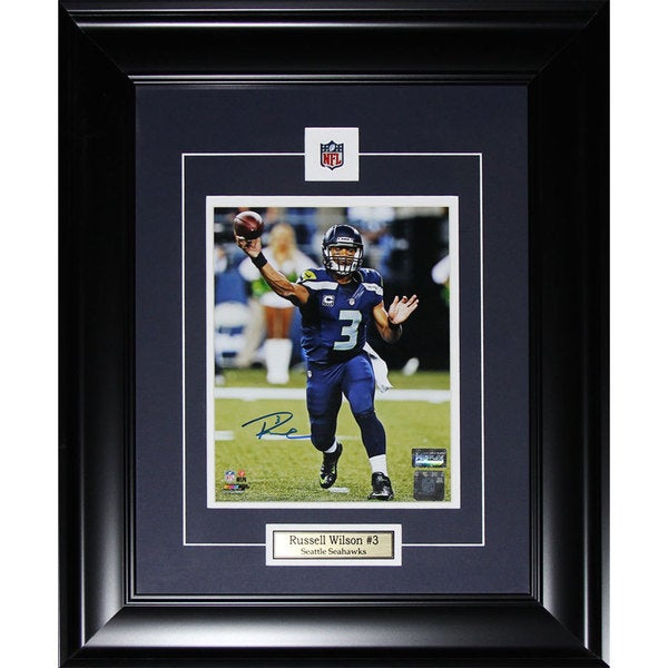 Seattle Seahawks Russell Wilson 8-inch x 10-inch Framed Signed Photo
