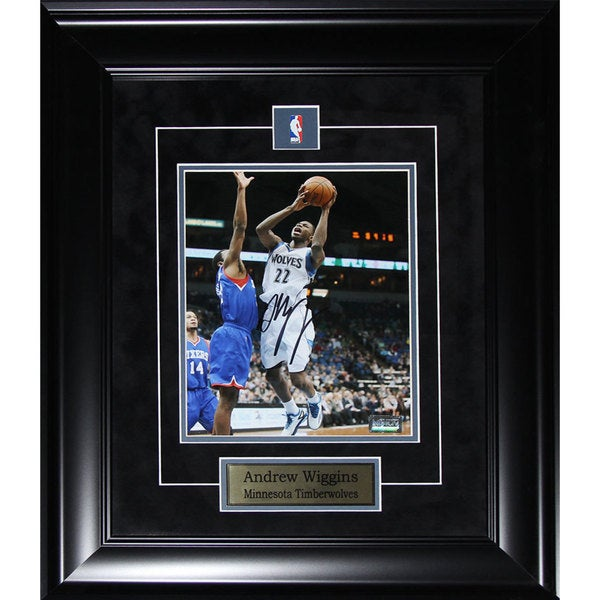 Andrew Wiggins Minnesota Timberwolves 8-inch x 10-inch Signed Photo in Frame
