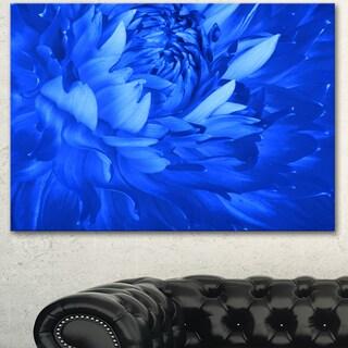 Designart 'Bright Blue Flower Petals ' Modern Floral Canvas Wall Art
