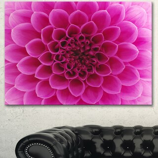 Designart 'Dark Pink Abstract Flower Petals' Modern Floral Canvas Wall Art
