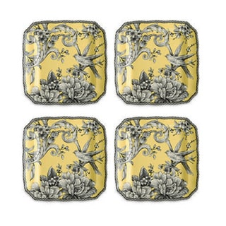 222 FifthAdelaide Yellow 4-piece Square Appetizer Plate Set