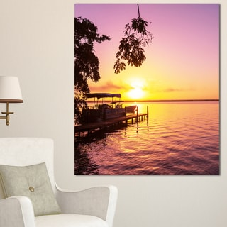Designart 'Tropical Beach with Fantastic Sunset' Extra Large Landscape Canvas Art