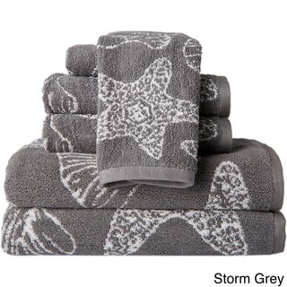 The Shore 6-Piece Jacquard Shell Towel Set