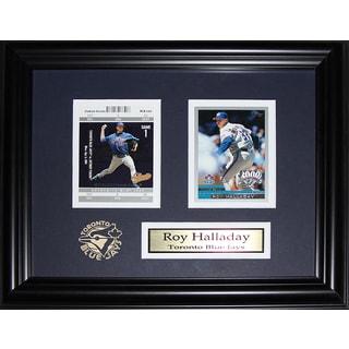 Roy Halladay Toronto Blue Jays 2 Card Frame