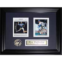 Roy Halladay Toronto Blue Jays 2 Card Frame
