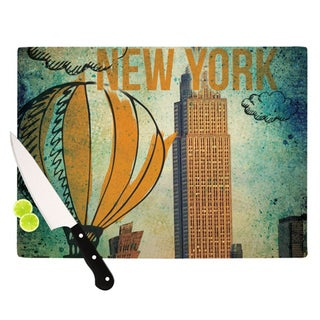 Kess InHouse iRuz33 New York Glass Cutting Board
