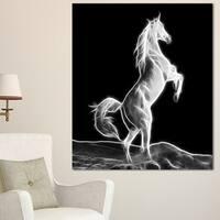 Designart 'Large White Horse Sculpture' Extra Large Animal Artwork