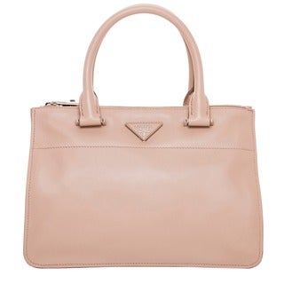 Prada 'City' Calf Leather Tote Handbag in Blush (As Is Item)