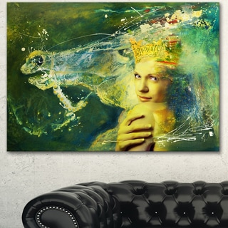 Designart 'Thoroughbred Horse and Woman' Large Animal Art on Canvas