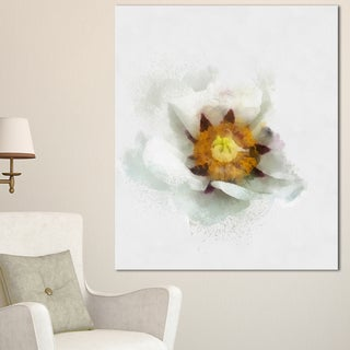 Designart 'Bloomy Poppy Flower Watercolor' Modern Floral Canvas Wall Art