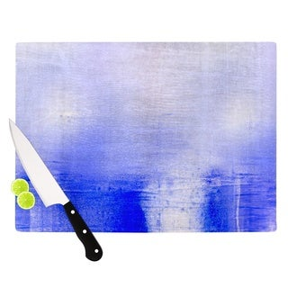 Kess InHouse Iris Lehnhardt 'Blue and Lavender' Glass Cutting Board