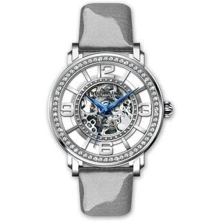 Stuhrling Original Women's Automatic Skeleton Gray Leather Strap Watch|https://ak1.ostkcdn.com/images/products/13136572/P19865123.jpg?impolicy=medium