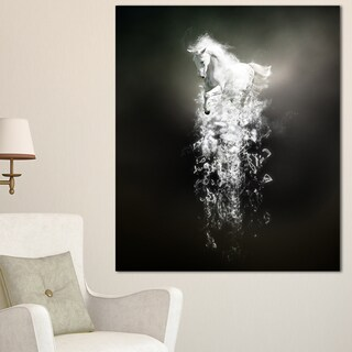Designart 'Fantasy White Horse Running' Large Animal Art on Canvas (5 options available)