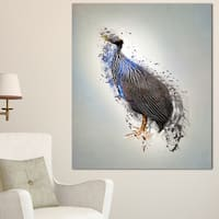Designart 'Guinea Fowl Abstract Design' Large Animal Art on Canvas