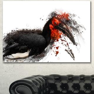 Designart 'Relaxing Large Exotic Bird' Large Animal Art on Canvas